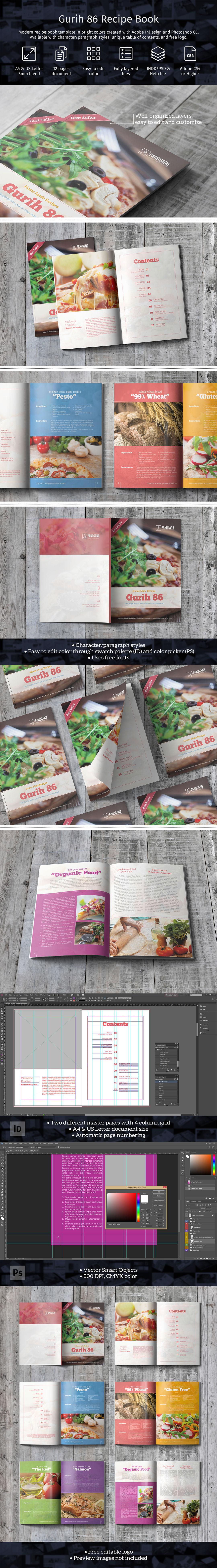 Gurih 86 Plantilla Libro de Cocina - 1001.graphics