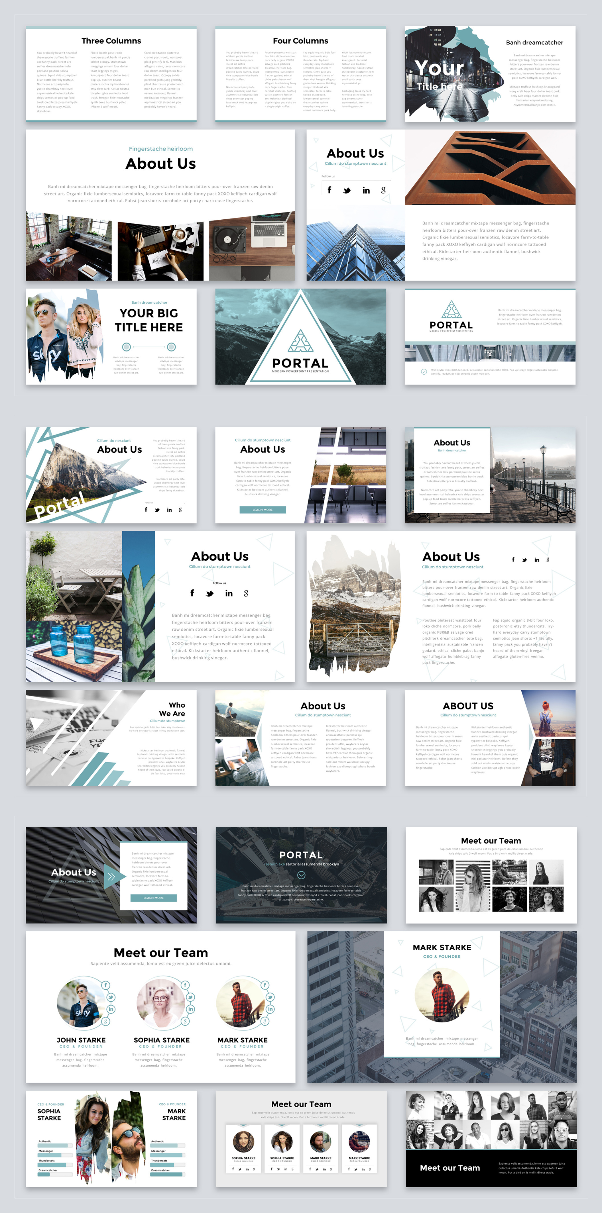 Portal Plantilla Presentación - 1001.graphics