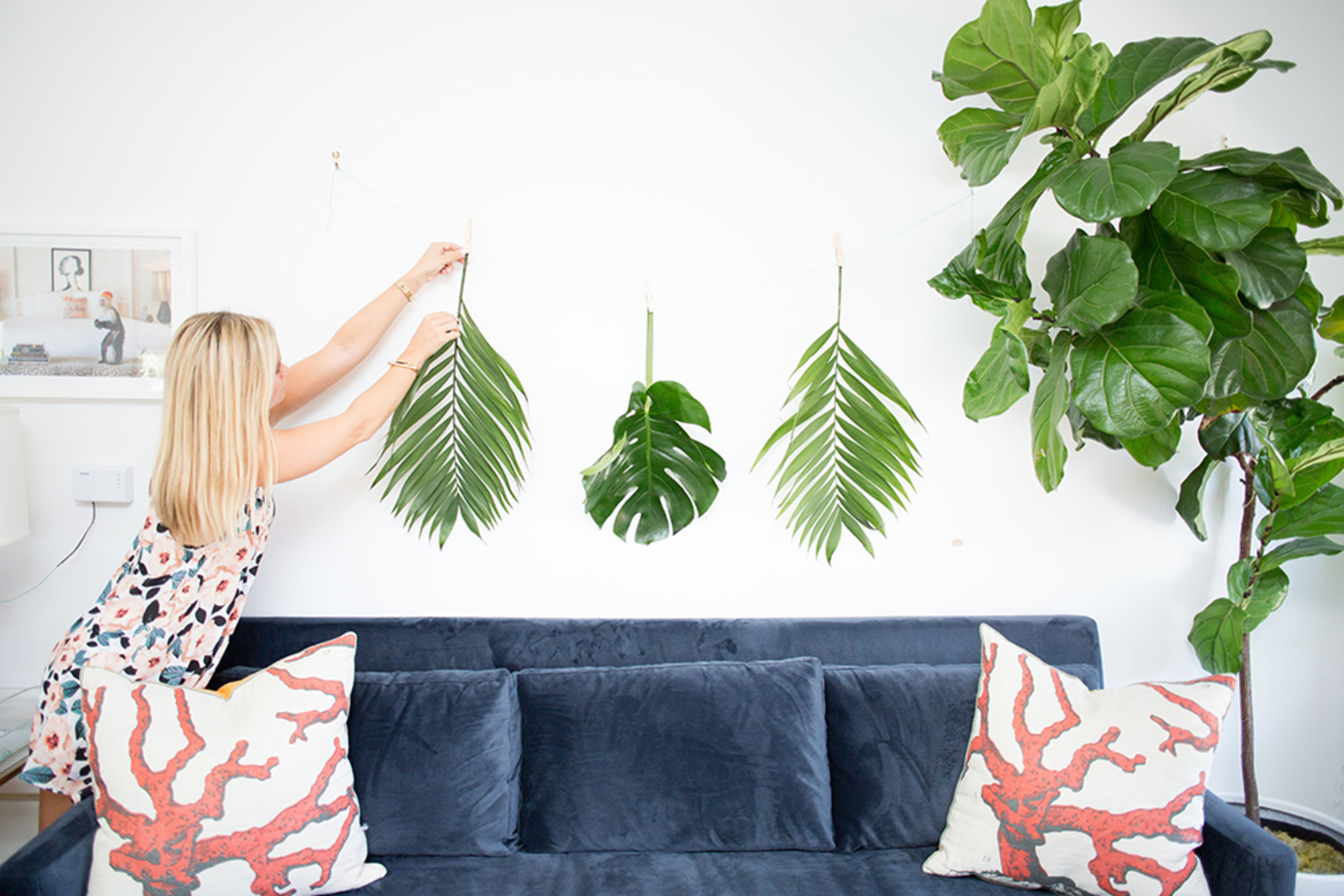 Diy Design How To Decorate With Real Palm Leaves 3 Ways Gray Malin