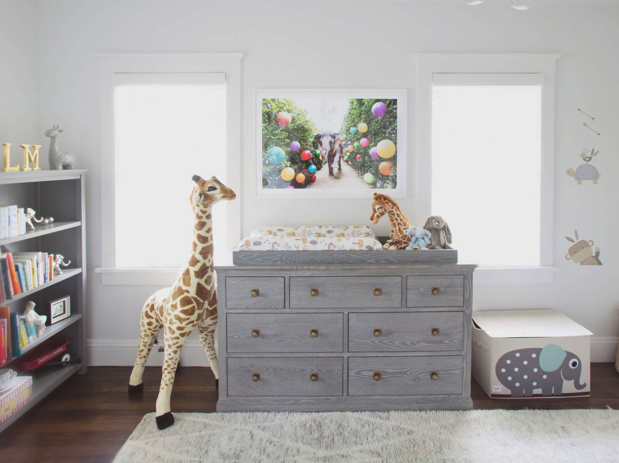 Safari Themed Nursery With Gray Malin At The Parker Artwork Gray