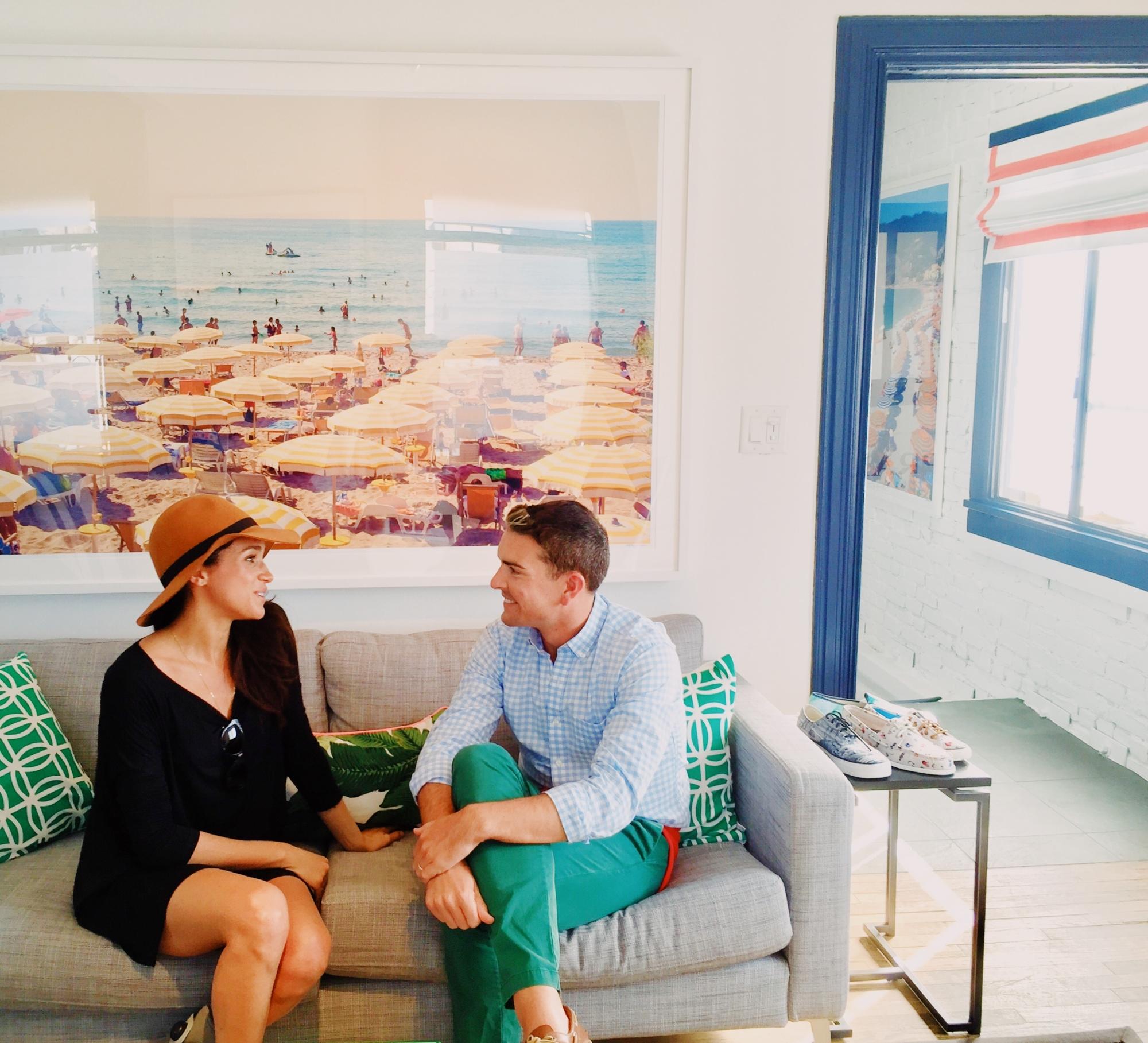 Meghan Markle Visits Gray Malin In His Studio