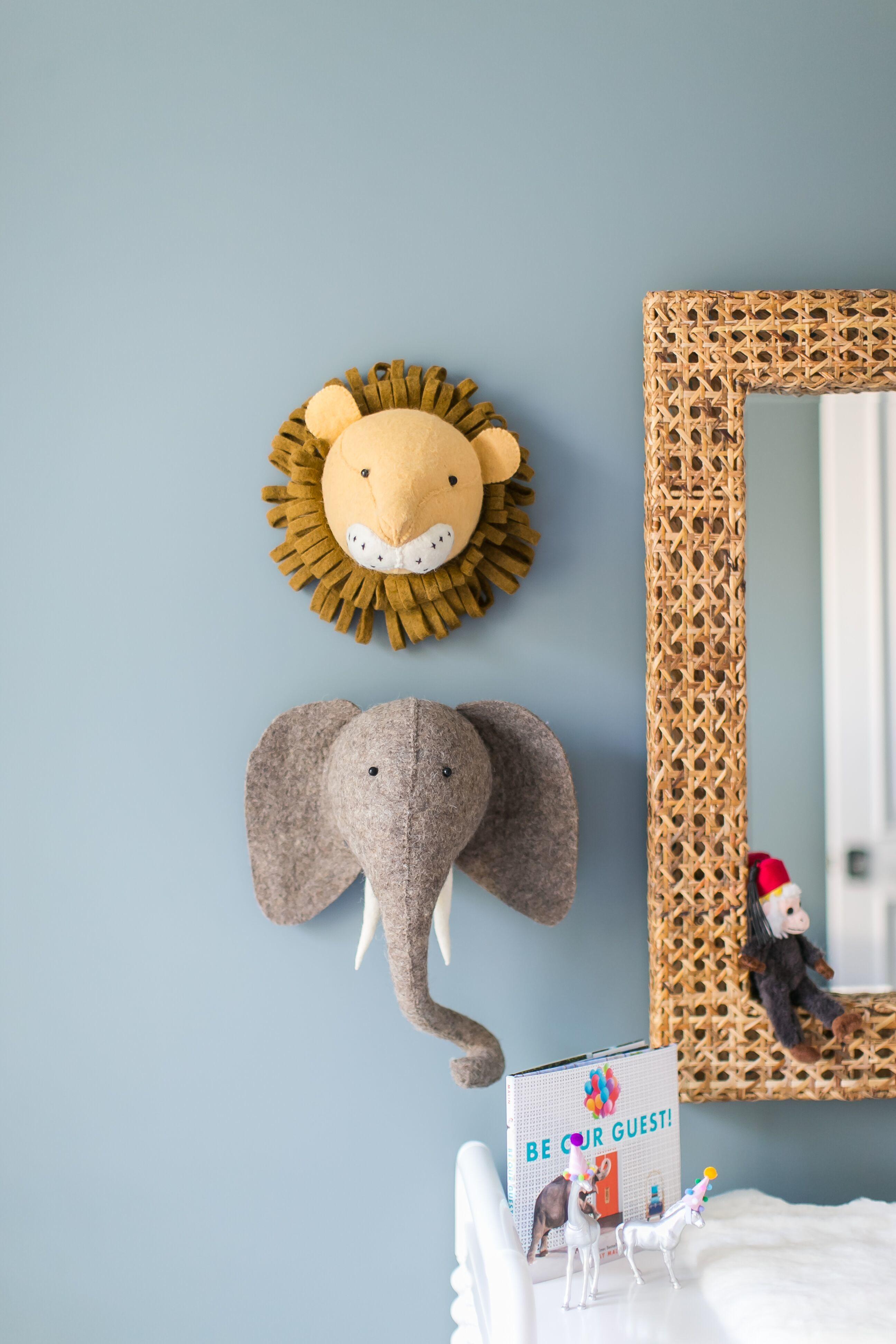 Nursery Decor - Felted Wall Animals