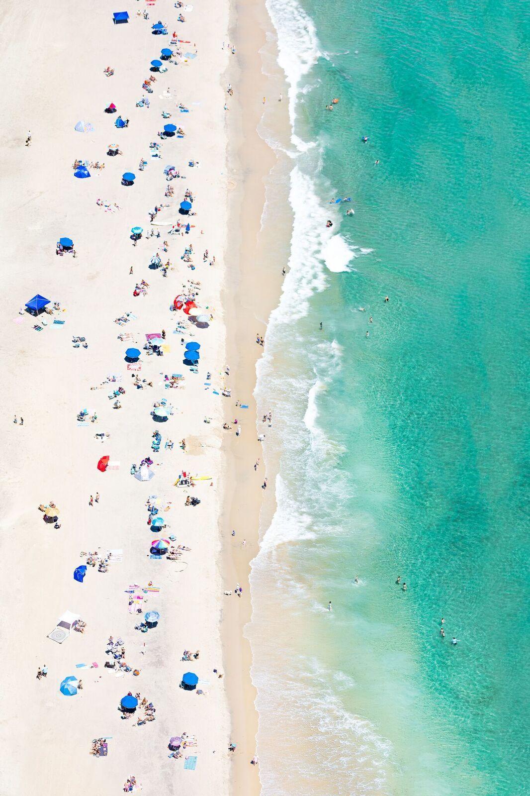 Crescent Beach, Rhode Island beach aerial by Gray Malin