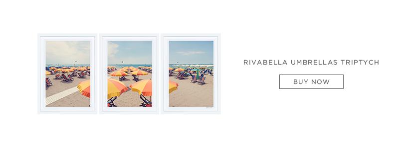 Rivabella Umbrellas Triptych