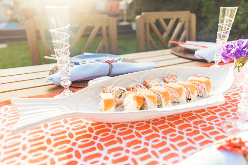 The perfect Backyard Dinner Party platter from Juliska