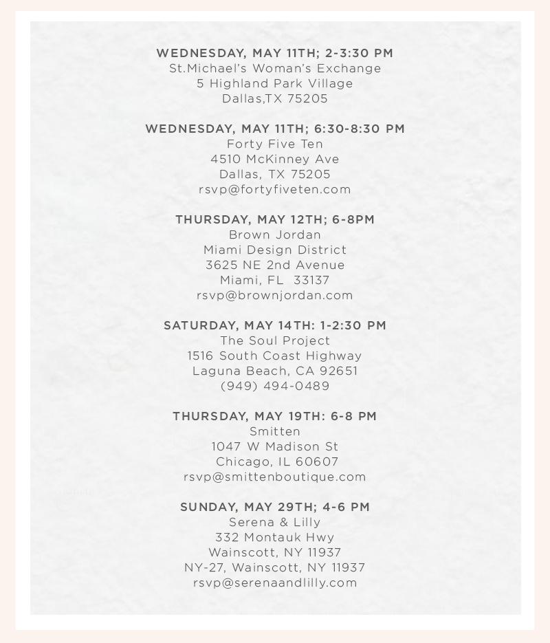 Beaches Book Tour Dates