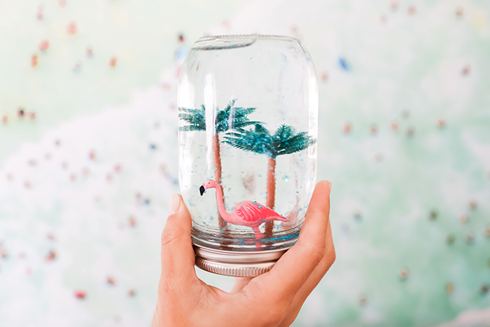 DIY summer snow globes via Gray Malin