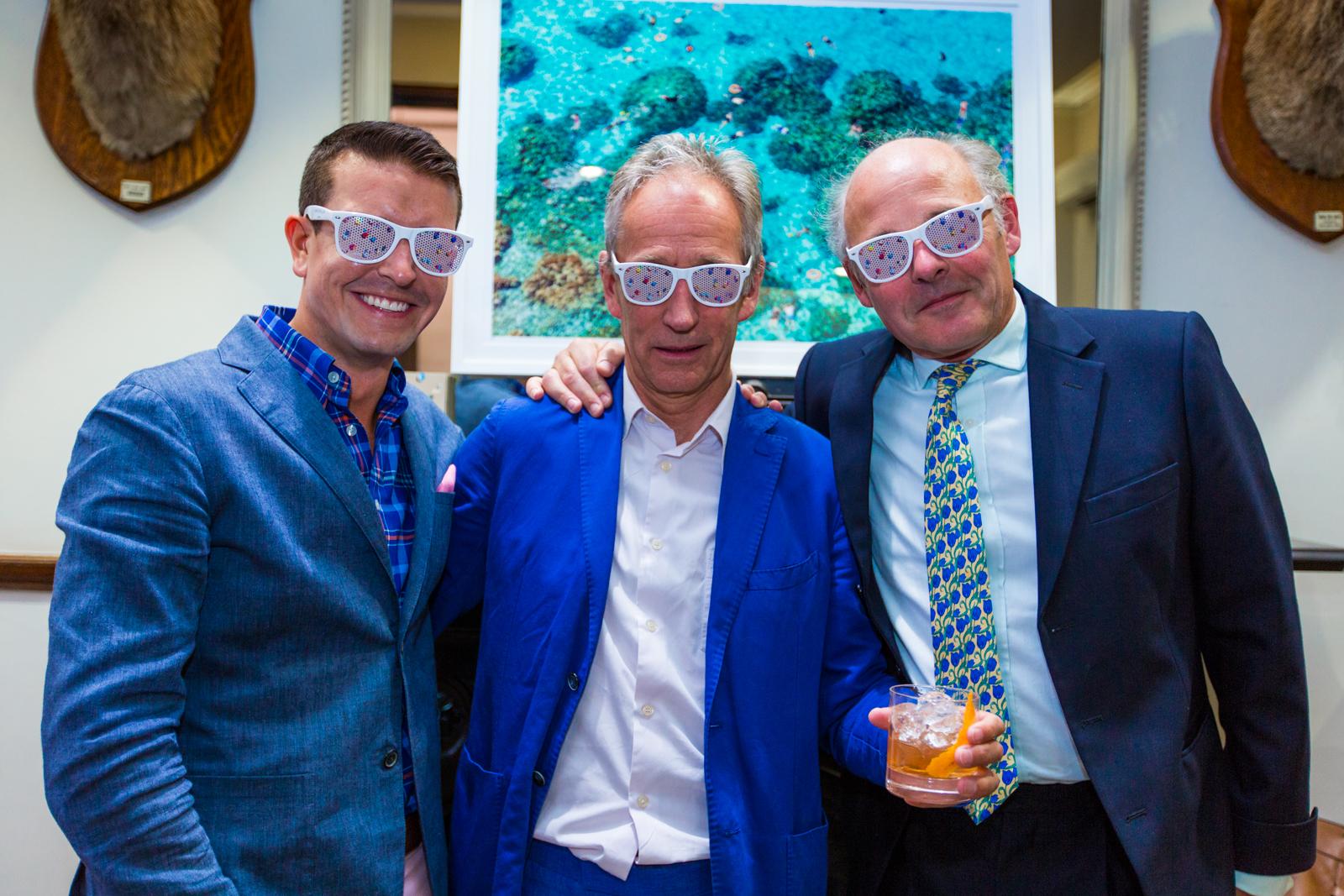 Gray with Tony Bromovksy and Ludovic Lindsay