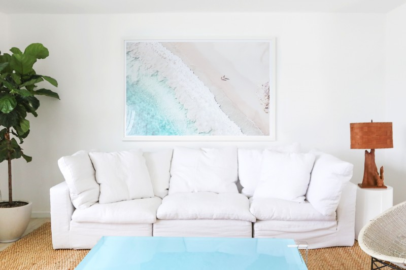 Gray Malin artwork in the Surf Lodge suite