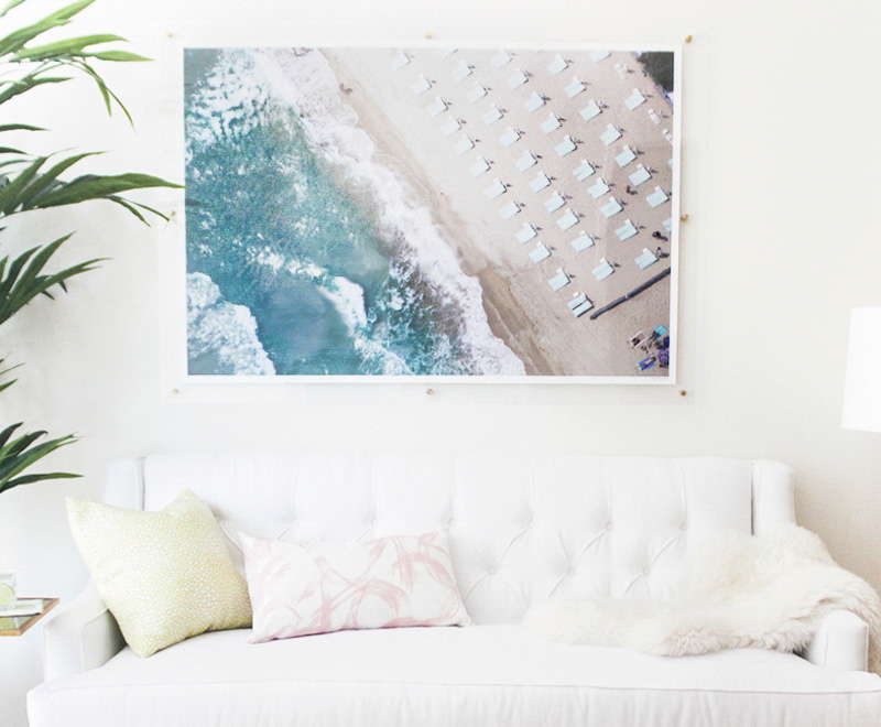 Jana Bek's DIY Framing trick with Gray Malin's beach aerial print