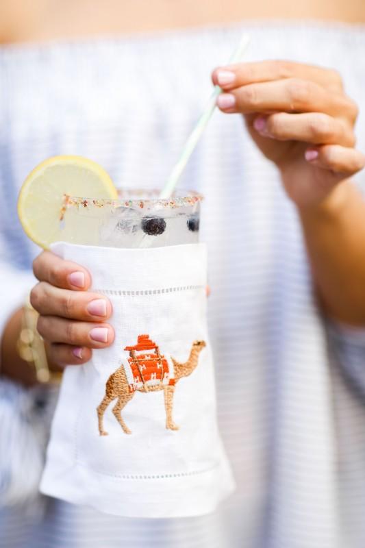 Get the recipe for this sprinkled & sparkling blueberry lemonade cocktail