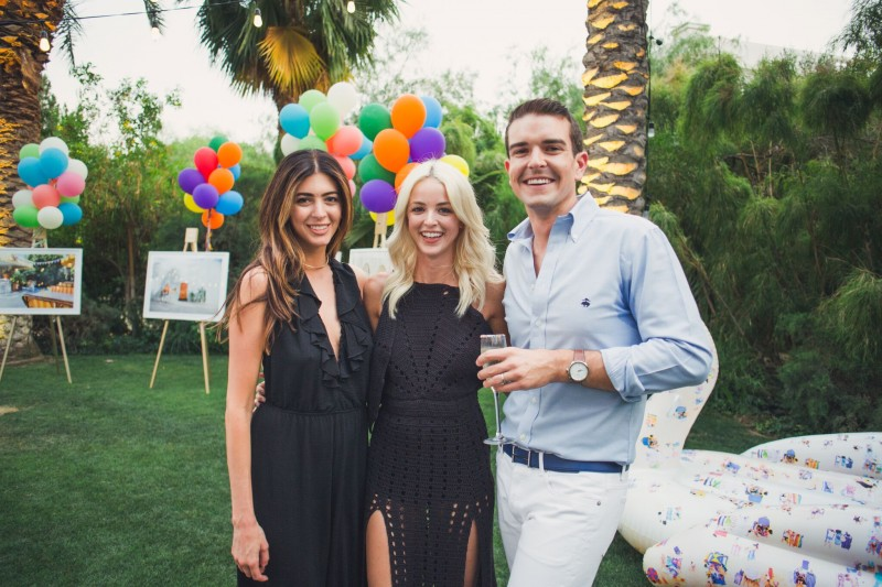Gray celebrating the Parker series with Kelsey White and Kaitlynn Carter