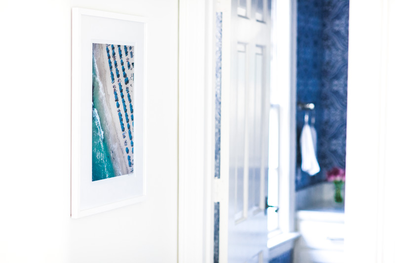 Gray Malin work hanging in the home of Amy Havins of Dallas Wardrobe