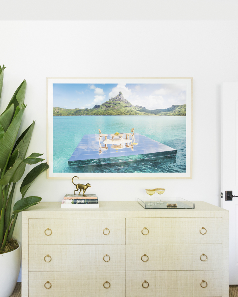 Gray Malin Bedroom Redesign - After with Art of Living image The Den