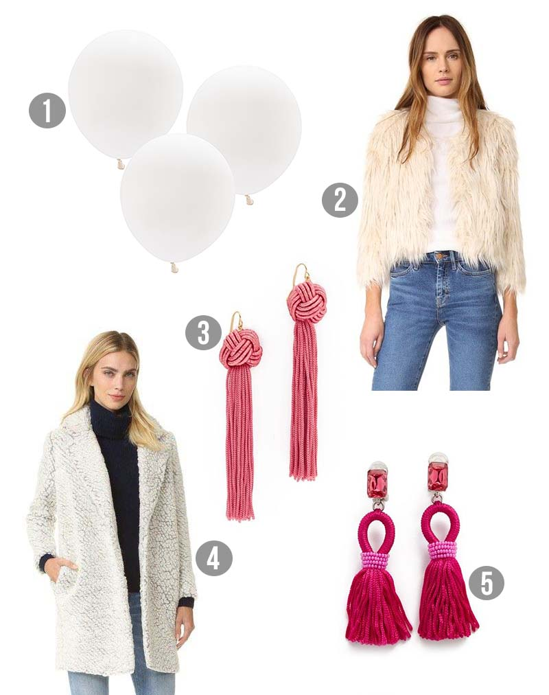 GM Inspired Costumes - Inspired by Llama White Balloons Print
