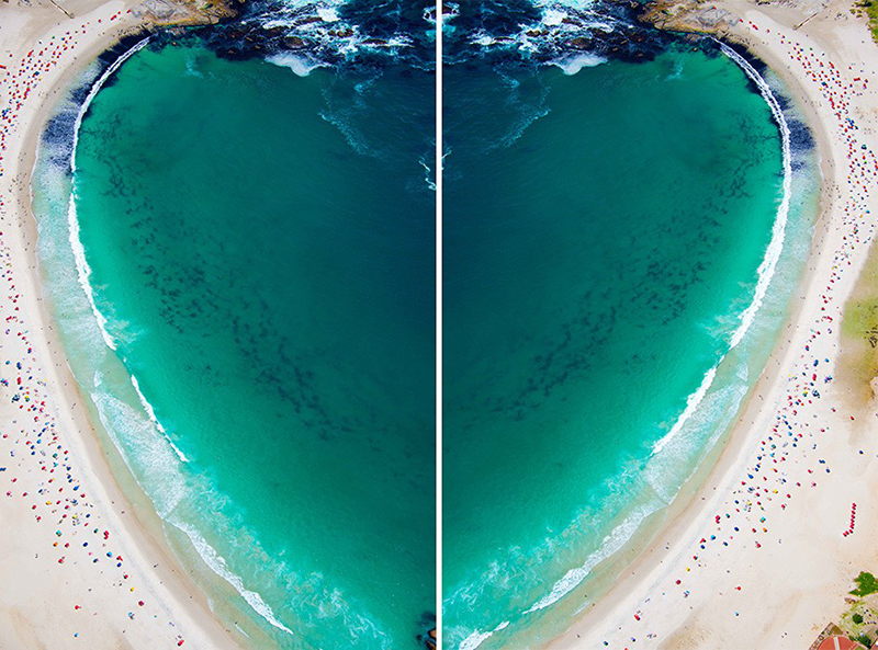 Camps Bay Heart Diptych - Gray Malin