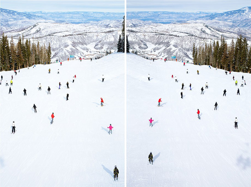 Gray Malin Top of Snowmass Diptych - See more diptychs + triptychs on GrayMalin.com