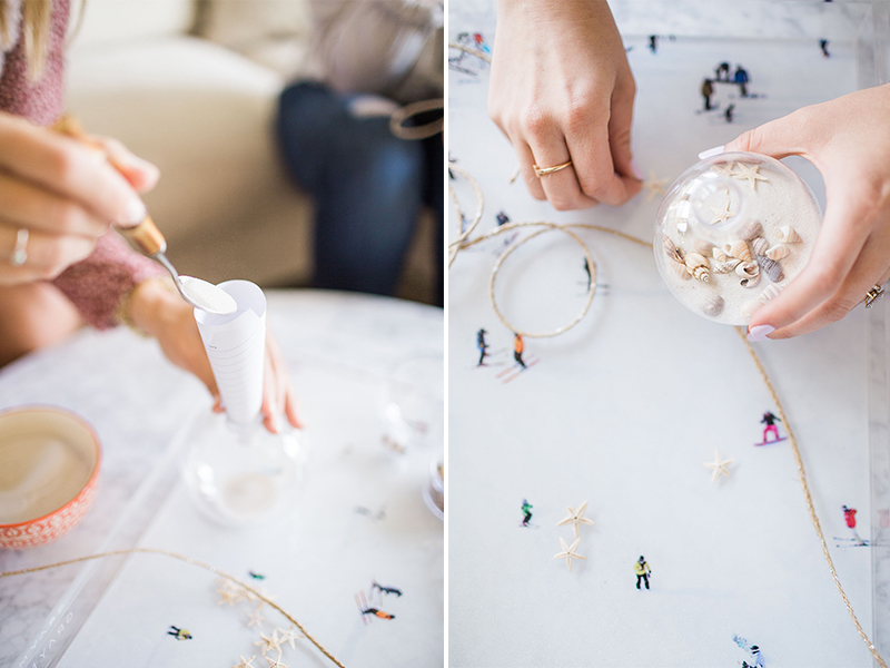 Learn how to make Gray Malin's pretty beach ornaments for Christmas