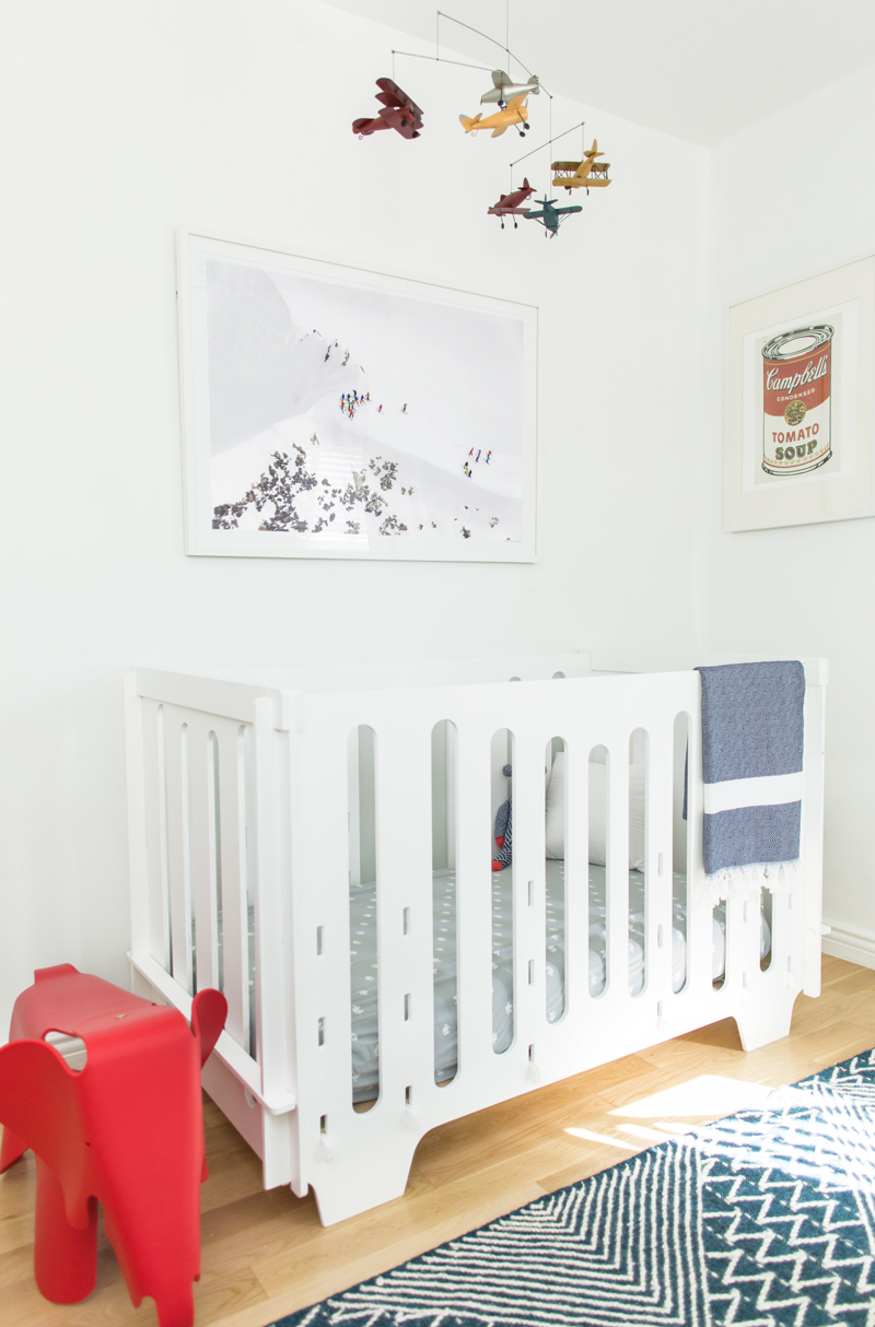 Gray Malin's Winter Themed Nursery with Noni Noni Kids Crib
