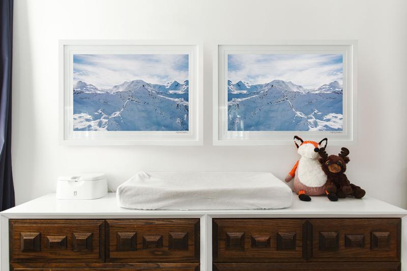 Gray Malin's Winter Themed Nursery with Noni Noni Kids Crib