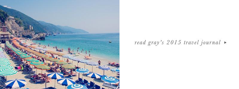 Gray Malin Italy Travel Journals