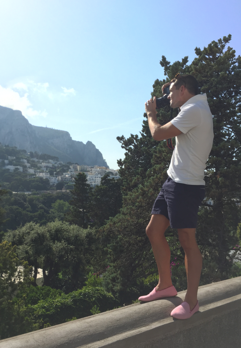 Gray Malin Behind the Scenes shot in Capri, Italy