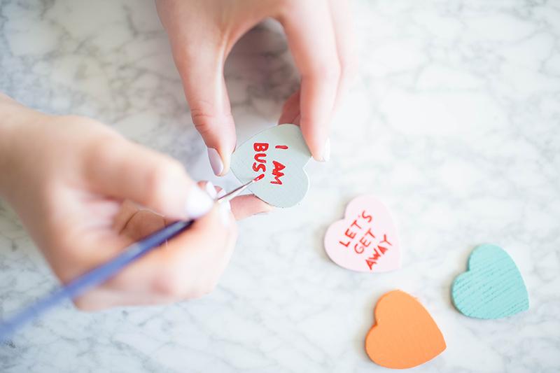 DIY Conversation Heart Drink Stirrers | Tutorial on GrayMalin.com
