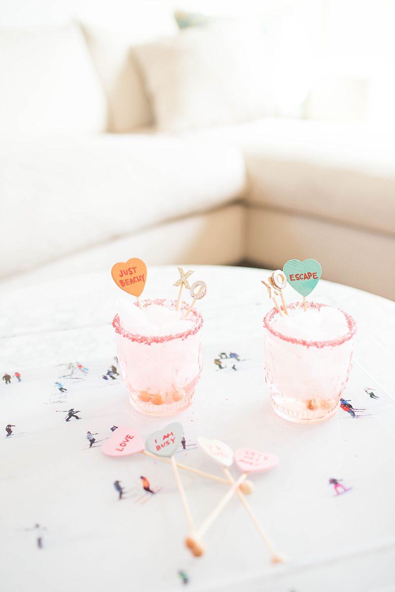 The sweetest DIY drink stirrers for V-Day | tutorial on GrayMalin.com