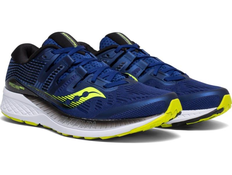 Saucony Ride ISO Men's Shoe, NavyCitron, M9.5