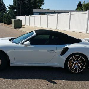 Porsche 911 Turbo S White 2016