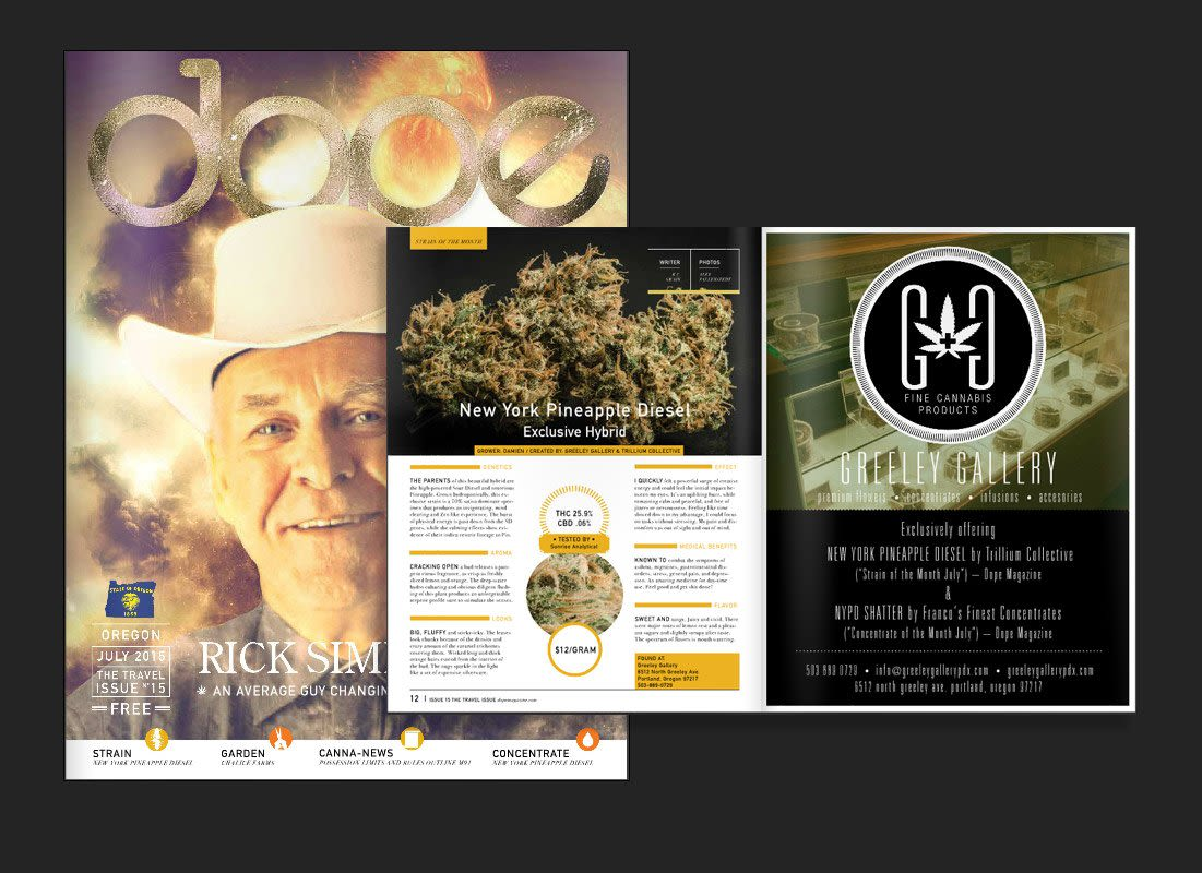 NY Pineapple Diesel – Strain of the Month in Dope Magazine