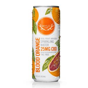 WYLD CBD Sparkling Water – Blood Orange