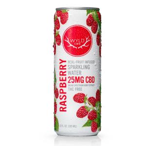 WYLD CBD Sparkling Water – Raspberry