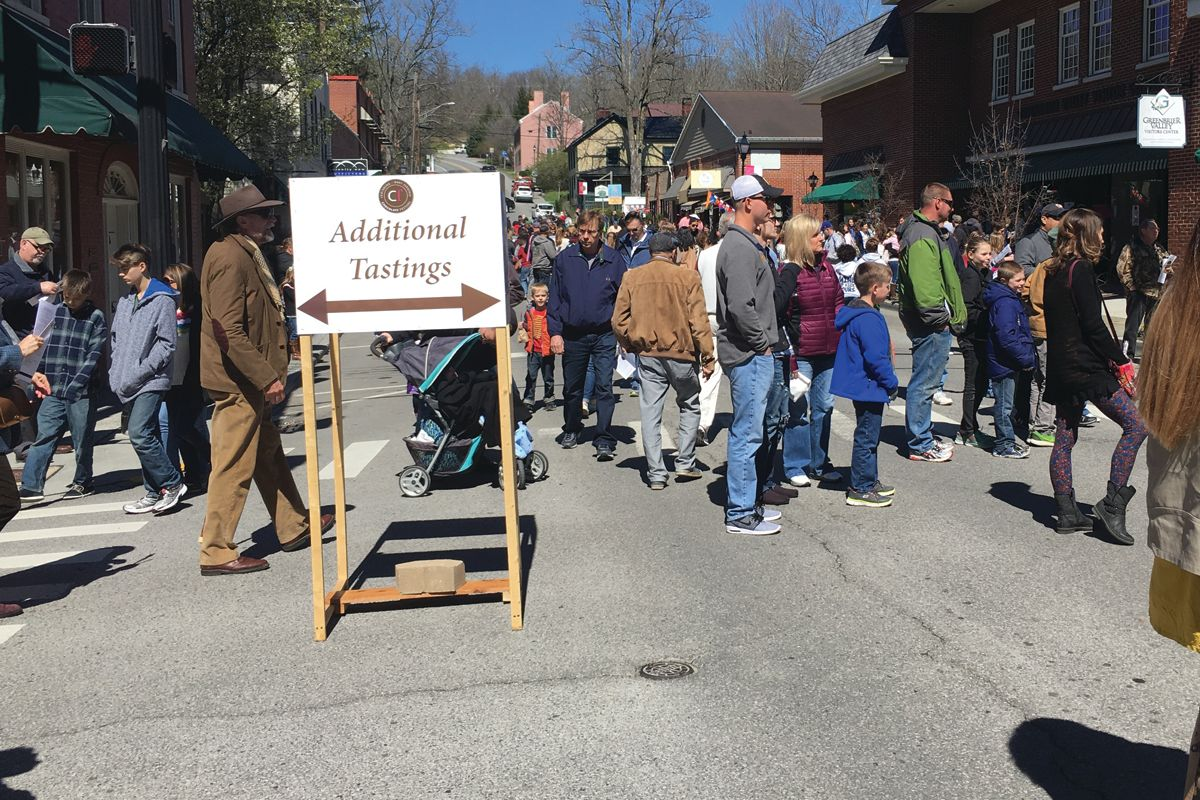 Lewisburg Chocolate Festival downtown