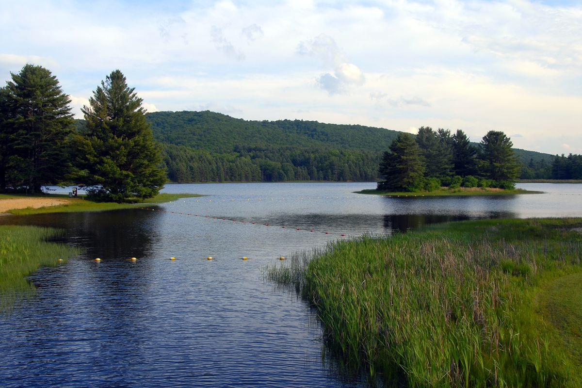 Wide view image of lake sherwood west virginia