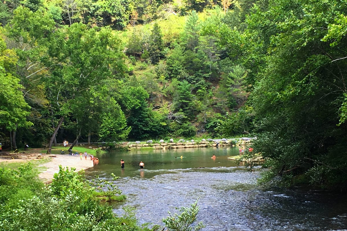 image blue bend swimming hole
