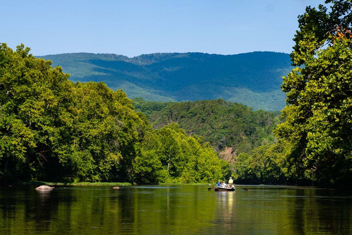 fishing greenbrier county with otters guide service
