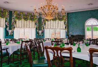 main dining room at the greenbrier resort