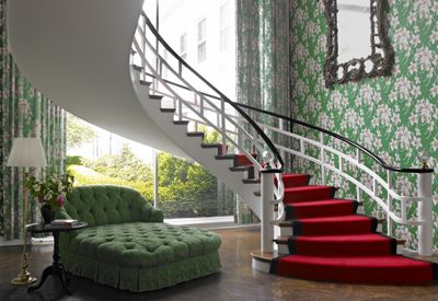 interior staircase at the greenbrier