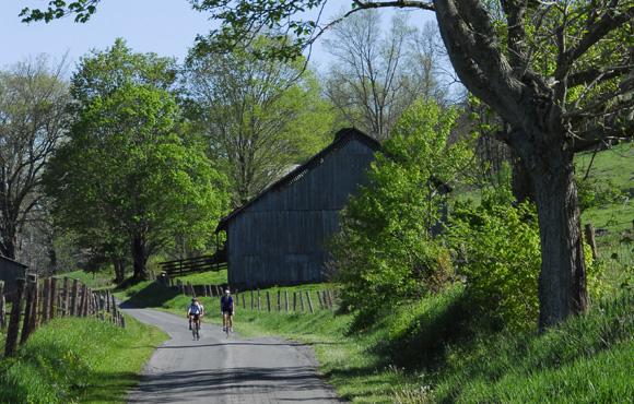 image road riding farmland