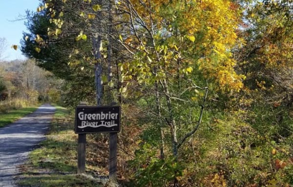 Greenbrier River Trail sign