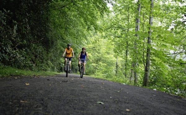 greenbrier river trail bikers