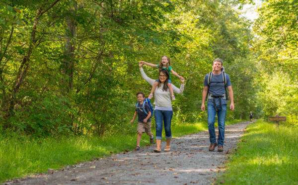 image hiking greenbrier river trail