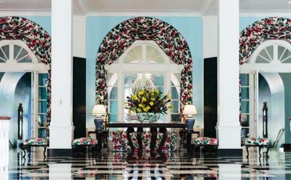 the greenbrier resort foyer