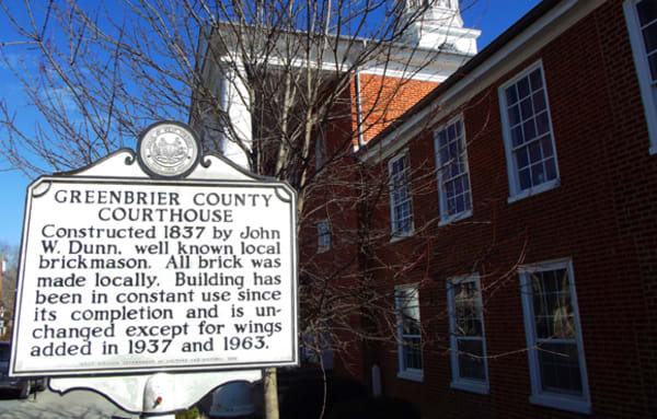 Greenbrier County Courthouse, circa 1837