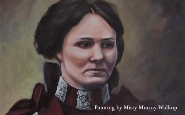 Painting of Zona Heaster Shue by Misty Murray-Walkup