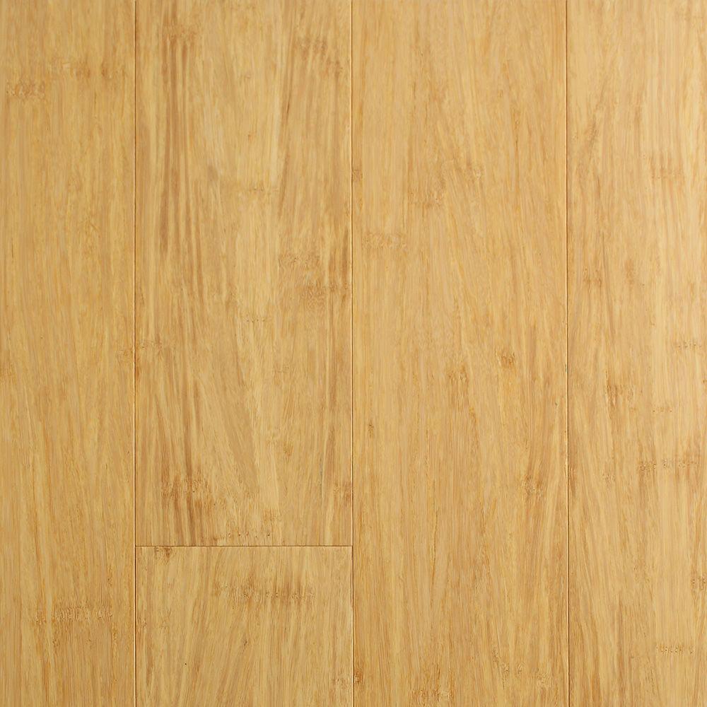 Ecofusion Solid Drop Lock Bamboo Flooring Natural
