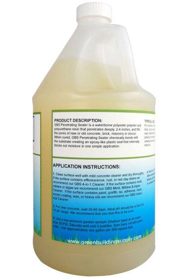 Green Building Supply Penetrating Concrete Sealer Non Toxic Eco