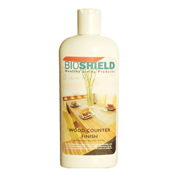 Bioshield, Wood Counter Finish - All-Natural, Non-Toxic, Oil