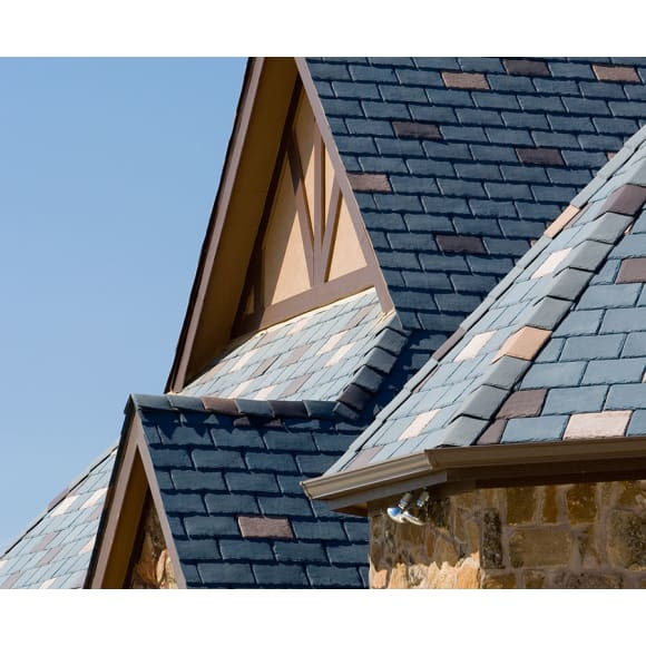 Ecostar Majestic Slate Hip And Ridge Tiles Eco Friendly Durable Recycled Rubber Roofing Tiles